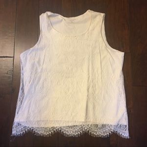 Coldwater Creek off white lace tank top